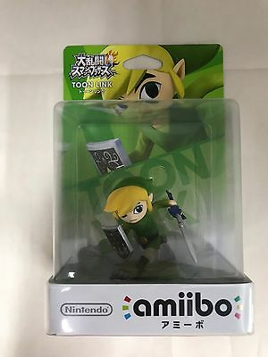 Amiibo toon Link Super Smash Brothers Nintendo Switch Wii U 3DS Japan