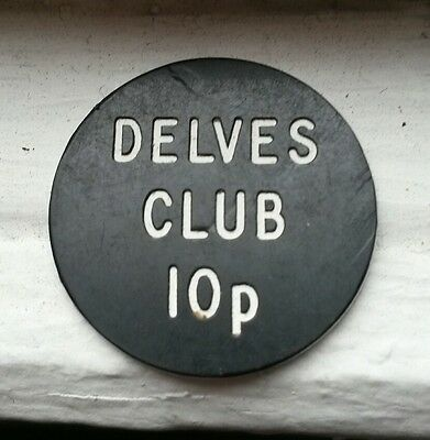 10p Token DELVES Club Consett vintage coin beer  home pub bar brewery devil