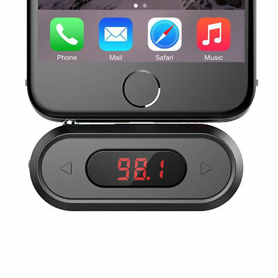 Black 3.5mm In Car Universal Wireless FM Transmitter Radio Car Kit For iPhone