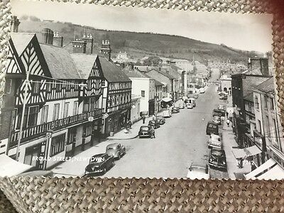 REAL PHOTO BROAD STREET NEWTOWN POWYS GEORGE MASON LATE 50's EARLY 60's