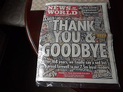 News Of The World Last Final Issue Edition 10 July, 2011 - With Sealed Magazine