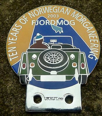 Morgan  Car Badge - 10 Years Of Norwegian Morganeering Fjordmog