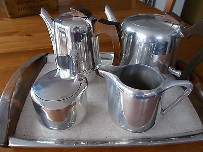 Picquot Ware  Vintage Set of 5 items Tea/ Coffee Set on tray