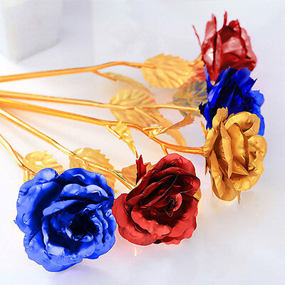 Romantic Gilded Golden Rose Flower Wedding Party Decoration Supplies Gifts