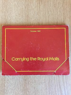 "Royal Mail Memorabillia-Post Cards,""carrying theRoyal Mails""-1981"