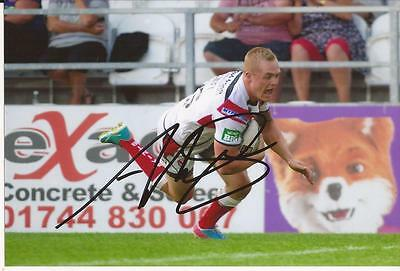 St.helens Rugby League * Adam Swift Signed 6X4 Action Photo+Coa