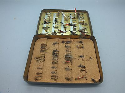 Richard Wheatley 'Loch Leven Eyed Fly Box' 41 clips + over 70 Flies