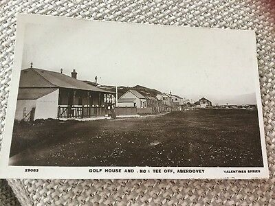 EARLY REAL PHOTO GOLF HOUSE & No. 1 TEE OFF ABERDOVEY GWYNEDD