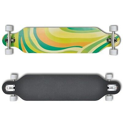 Professional Complete Longboard Skateboard Drop Through Outdoor Sports Green