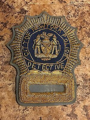 "Vintage  Bullion New York  Police Patch. 3-1/4""INCH  Scarce!!! NYC PD"