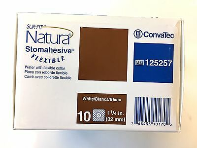 Box of 10- Convatec Sur-fit Natura Stomahesive Cut-to-fit Flexible Wafer 125257