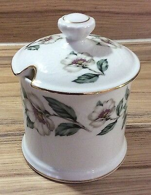 Crown Staffordshire Bone China 'Christmas Roses' Preserve/Jam Lidded Pot