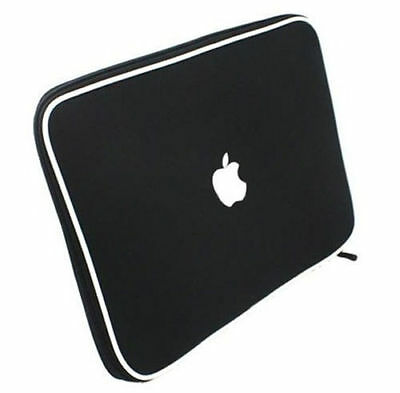 """Soft Sleeve Carry Bag Case Cover - Apple 13.3"""" Macbook Pro or Air - Black"""