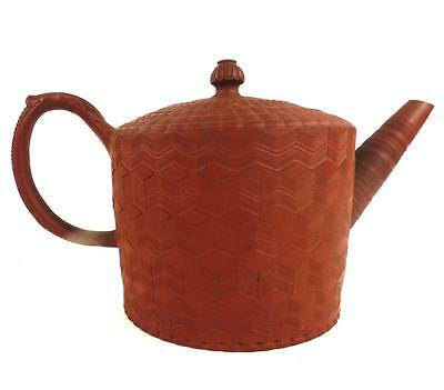 18Th Century Antique Engline Turned Redware Pottery Teapot Myatt Lane End