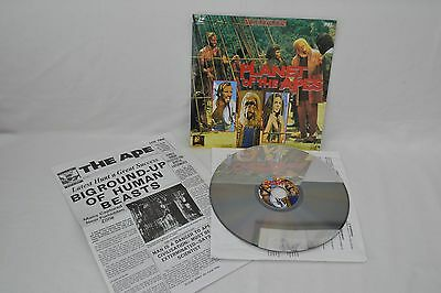Planet Of The Apes + Newspaper Very Rare Sci Fi Classic Laserdisc Pal Excellent!