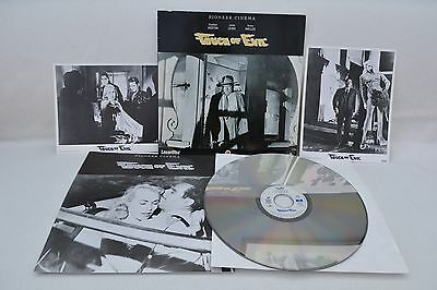 Touch Of Evil + All Inserts Very Rare Laserdisc Pal Excellent!