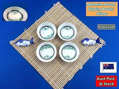 """4PCS NEW Melamine Round Dipping Bowls Dishes 2.5"""" - Sauces, Dips, etc (B137)"""