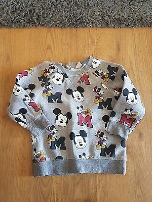 boys mickey mouse h&m jumper 12-18 month