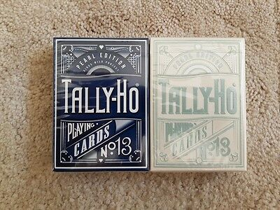 Tally Ho Pearl Limited Edition Custom Playing Cards (2 Deck Set) Kings Wild