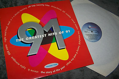 THE GREATEST HITS OF 91 Vinyl LP Album 1991 TELSTAR Various  Volume 2 Vinyl albu