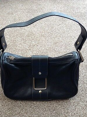 Ted Baker black leather small bag with gold zip detail