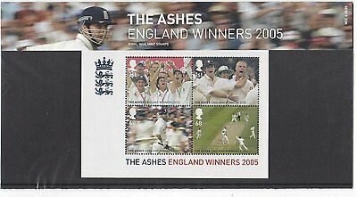 The Ashes 2005, England Winners Royal Mail Stamps in Presentation Pack