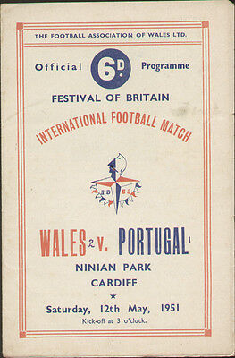 Wales V Portugal Festival of Britain Programme 1951