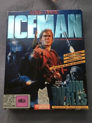 Code Name: Iceman Commodore Amiga Game From Sierra, Complete in Box!