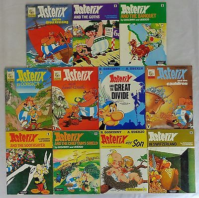Job Lot Collection of 11 Asterix Paperback Book Comics by Goscinny & Uderzo