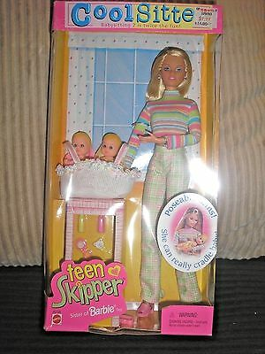 Cool Sitter Teen Skipper Doll with 2 Babies (Sister of Barbie) NRFB HTF!