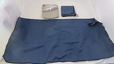 """Syourself Microfiber Sports Travel Lot of 2 Towels 32"""" x 16"""" Fast Drying Bag New"""