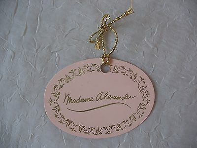 """Madame Alexander 20"""" Doll Pink Wrist Tag, From Portrait Doll"""