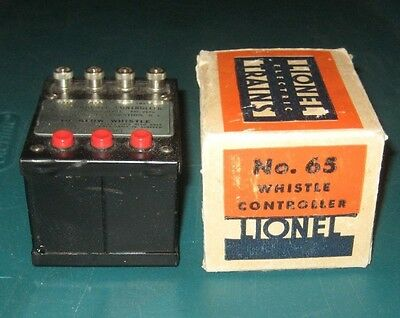 LIONEL O GAUGE No. 65 WHISTLE CONTROLLER in BOX