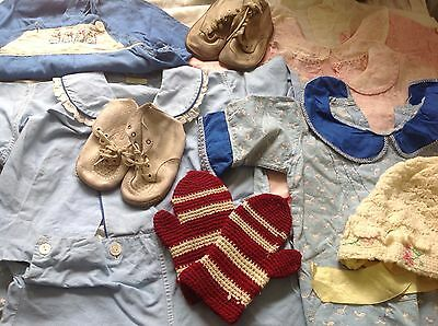 Fab Vintage 1920S-30S Lot Of Over 20Pcs Baby Clothes Sleep Dresses Mittens