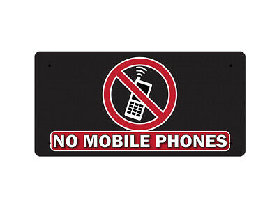 WP_FUN_111 NO MOBILE PHONES (black background) - Metal Wall Plate