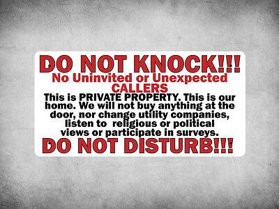 WP_FUN_145 DO NOT KNOCK/DISTURB!!! - Great sign to deter door salesman etc. - Me