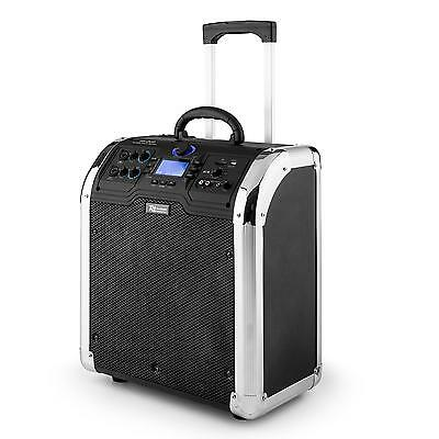 Power Dynamics Trolley Lautsprecher Tragegriff Bluetooth Musik Box Usb Mp3 Sd
