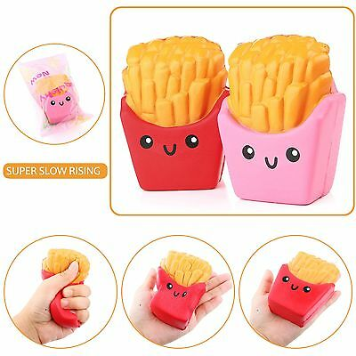 13CM Squishy Kawaii French Fries Scented Squeeze Slow Rising Kid Toy Phone Strap