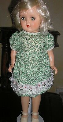 """Ideal P92 Toni Doll 19"""" with Platinum Blonde Hair and Blue/Green Eyes"""