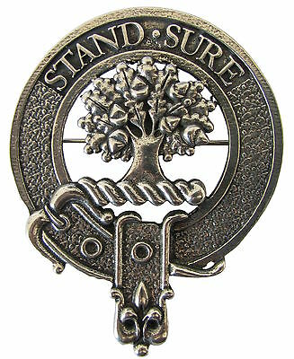Premium SCOTTISH Clan Crest Badge/Brooch. Robust & Quality made in UK. Clans A-L