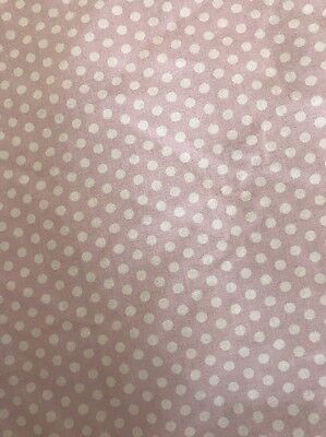 LAURA ASHLEY Pink And White Polka Dot Spotty Fitted Single Sheet