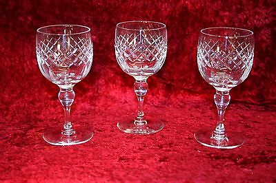 Vintage Webb Corbett Cut Crystal Glasses 12 cms tall x 3