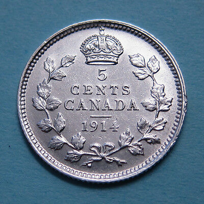 Canada 5 cents silver - 1914 - NICE!