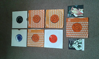 Bob Dylan - Collection of 7 Bob Dylan related Singles + Postcards