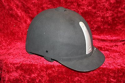 Rhinegold Black Vented Riding Hat size 7 1/8