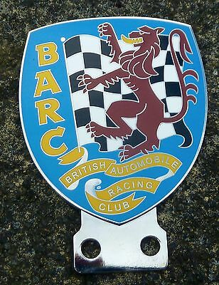 British Automobile Racing Club Car Badge - Barc - Mg-Jaguar-Ford-Bentley