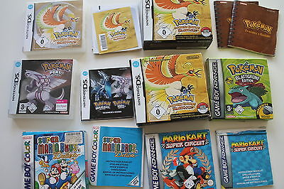 Game Boy Advance OVP Hüllen (leer) - Blattgrüne Edition Pokemon Heartgold Mario