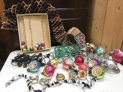 Set Of Antique Christmas Fairy Lights And Decorations. Open To Offers?