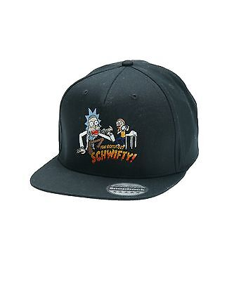 Funny Rick And Morty Schwifty Snapback Pair Embroidered Rapper Caps Hip-Hop Hats