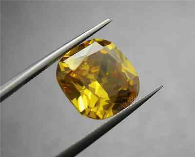 EXQUISITE YELLOW SAPPHIRE 13.32ct UNHEATED 12X12mm CUSHION SHAPE LOOSE GEM